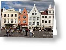 Tallinns Town Hall Square Greeting Card