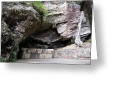 Tallulah Gorge Stone Bench 2 Greeting Card