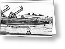 Talon Vs. Hornet Greeting Card