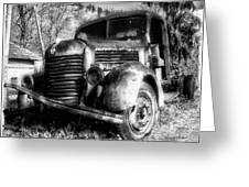 Tam Truck Black And White Greeting Card