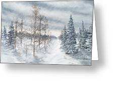 Tamarack Swamp In Winter 2  Greeting Card