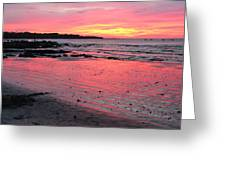 Tamarindo Sunset Greeting Card