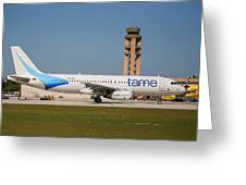 Tame Airline Greeting Card