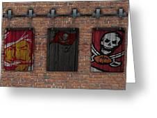 Tampa Bay Buccaneers Brick Wall Greeting Card