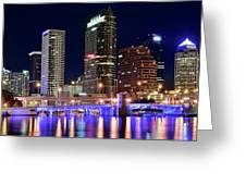 Tampa Bay Pano Lights Greeting Card