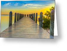 Tampa Bay Sunset Greeting Card