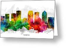 Tampa Florida Cityscape 12 Greeting Card
