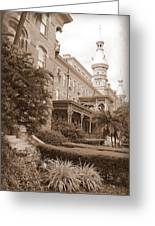 Tampa Gem In Sepia Greeting Card