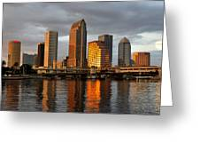 Tampa In Reflection Greeting Card