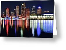 Tampa In Vivid Radiant Color Greeting Card