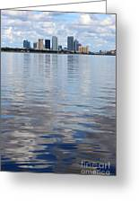 Tampa Skyline Over The Bay Greeting Card