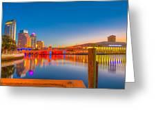 Tampa Sunrise Greeting Card