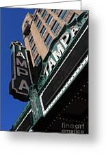 Tampa Theatre  Greeting Card by Carol Groenen