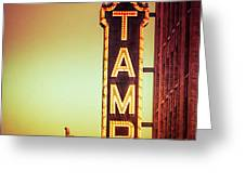 Tampa Theatre Greeting Card by Carolyn Marshall