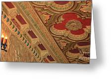 Tampa Theatre Ornate Ceiling Greeting Card