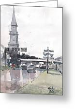Tampa Tower At Hillsborough Intersection Greeting Card
