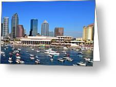 Tampa's Day Panoramic Greeting Card