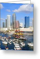 Tampa's Flag Ship Greeting Card by David Lee Thompson