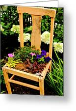 Tan Chair Planter Greeting Card