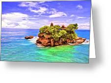 Tanah Lot Temple Bali Greeting Card