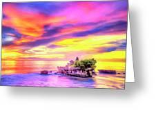 Tanah Lot Temple Sunset Bali Greeting Card