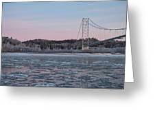 Tanana River With Pipeline - Early Morning Greeting Card