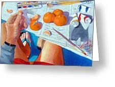 Tangerine Break Greeting Card