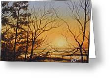 Tangerine Sky Greeting Card