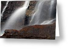 Tangle Falls Closeup 9 Greeting Card