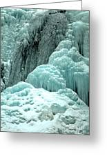 Tangle Falls Frozen Blue Cascades Greeting Card