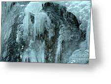 Tangle Falls Frozen Cascade Greeting Card