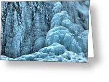 Tangle Falls Frozen In Blue Greeting Card