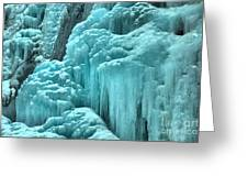Tangle Falls Frozen Landscape Greeting Card