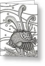 Tangle Fish Greeting Card