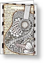 Tangle Guitar 1 Greeting Card