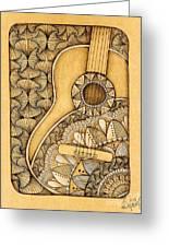Tangle Guitar Greeting Card