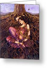 Tangled Greeting Card by Janet Chui