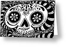 Tangled Skull Greeting Card