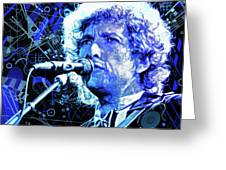 Tangled Up In Blue, Bob Dylan Greeting Card