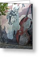 Tango And The Double Bass Greeting Card