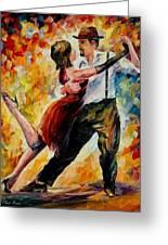 Tango In Red Greeting Card