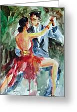 Tango In The Night Greeting Card