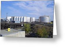 Tank Farm Nustar Greeting Card