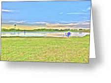 Tank Fishing - Karnes City, Tx Greeting Card