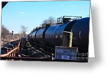 Tanker Cars Pulled By Csx Engines Greeting Card