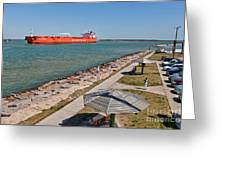 Tanker Transporting Crude Oil Greeting Card