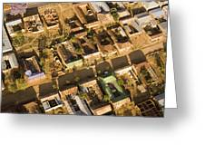 Tanzanian Courtyard Homes Are Clustered Greeting Card