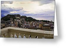 Taormina Balcony View 2 Greeting Card