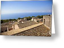 Taormina Rooftops Greeting Card
