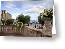 Taormina Square Greeting Card